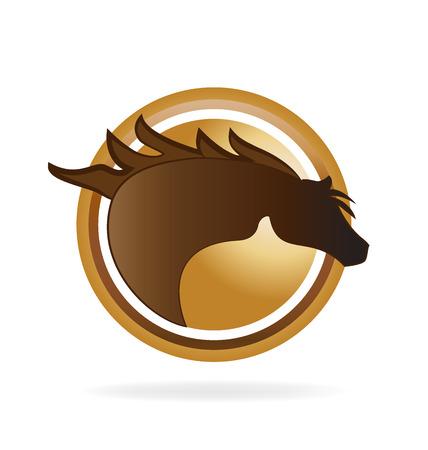 paddock: Horse  vector icon image