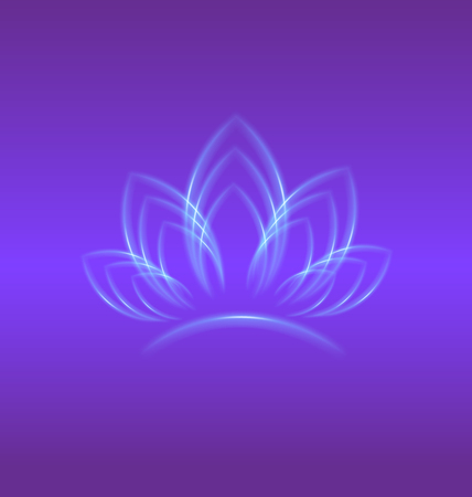 Lotus purple flower logo backgrond vector design