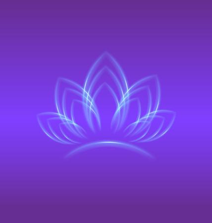 Lotus purple flower logo backgrond vector design