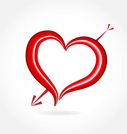 io: Valentines heart love icon vector design