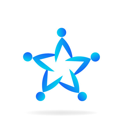 together voluntary: Teamwork star shape.