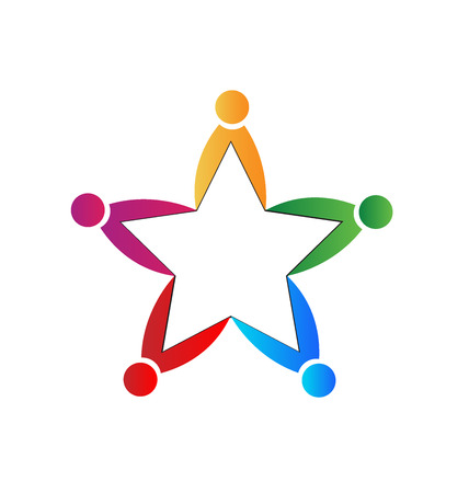 health and fitness: Teamwork star shape.