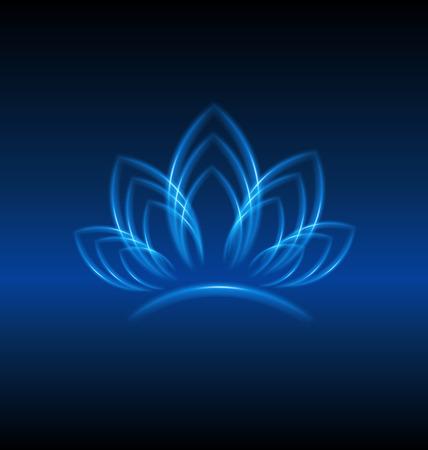 Lotus kwiat niebieski obiekt dowód tożsamości backgrond wektor wzór Ilustracje wektorowe