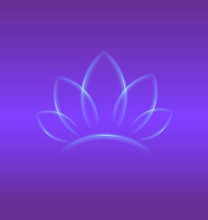 producer: Lotus purple flower identity card backgrond vector design