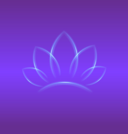 Lotus purple flower identity card backgrond vector design