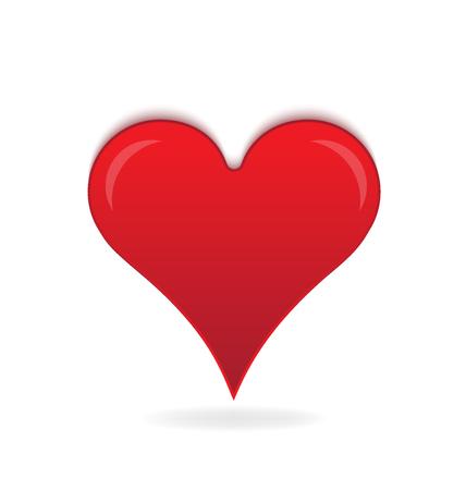 io: Heart of love logo vector design