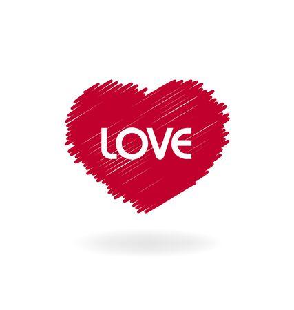 pareja de esposos: San Valentín del corazón del amor del vector icono de diseño de logotipo