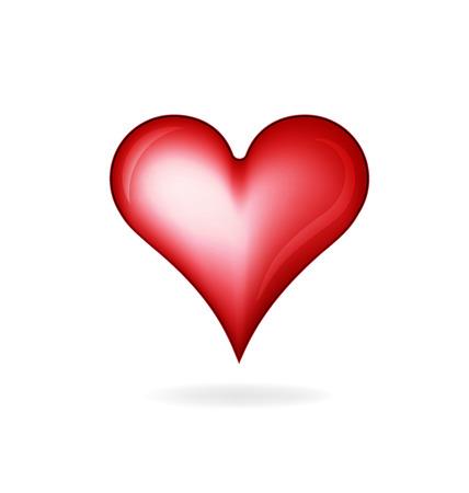 shiny hearts: Heart love glossy logo vector image Illustration