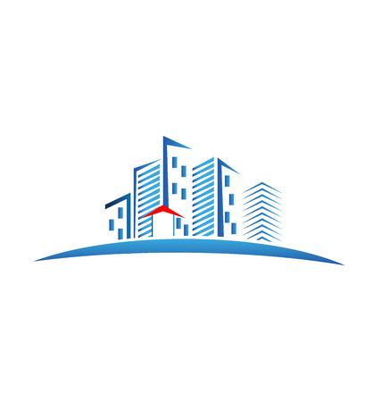 Modern buildings logo vector image