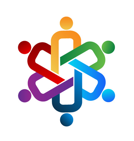 Logo unity people teamwork Illustration