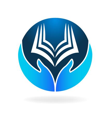 computer education: Book education logo vector icon