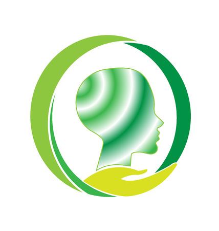 imagen del logotipo del vector atención de salud mental Vectores