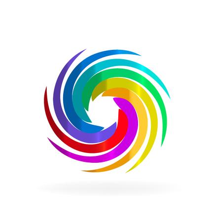 whirlwind: Swirly rainbow waves