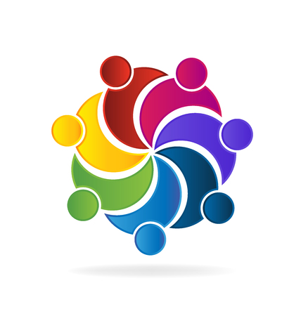 Teamwork union business logo