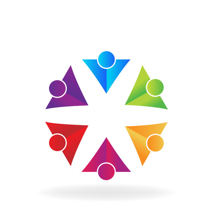 congress: Business people . Can represent teamwork, partners,family,workers,groups,kids,union,success, event,party logo icon template