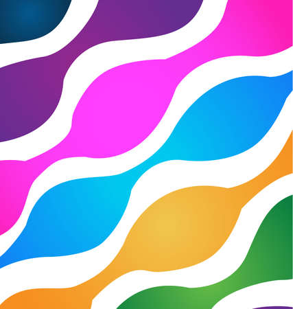 la union hace la fuerza: Abstract colorful pattern background vector image