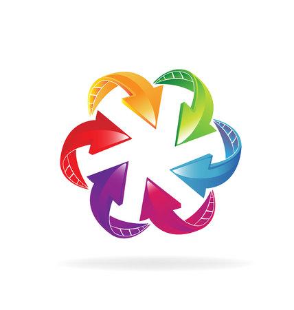 vivid colors: Arrows vivid colors. Business concept info-graphics design Illustration