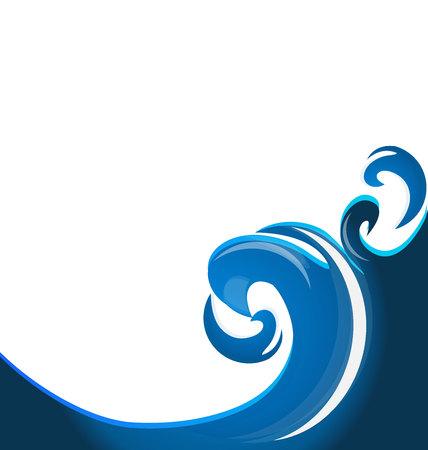 silk screen: Blue swirly waves  background template