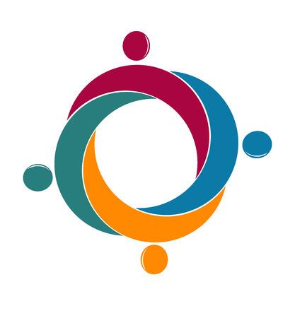 obra social: Concepto del trabajo de ayudar logo icono de la tarjeta de negocios de identidad