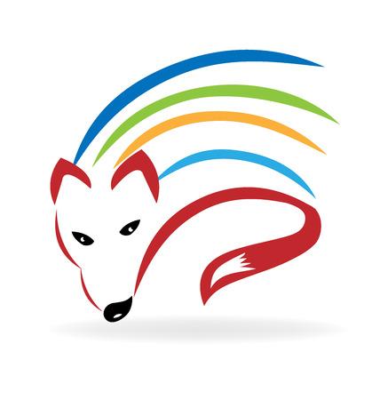 Fox colorido del vector de diseño de logotipo imagen