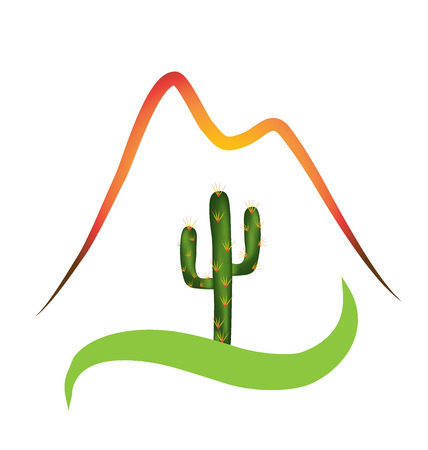 dunes: Mountains and desert icon sign image Illustration