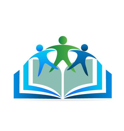 educativo: Libro y amigos logotipo de la educación