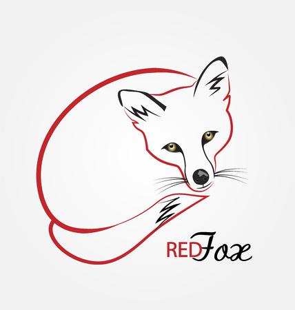 perro asustado: Zorro, lobo, coyote, fornido, perro salvaje icono de vector logo