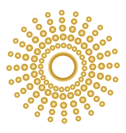 adorn: Gold abstract sun vector image