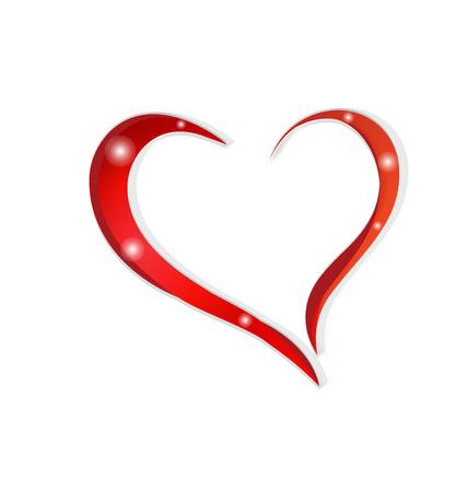 lovers: Love heart vector