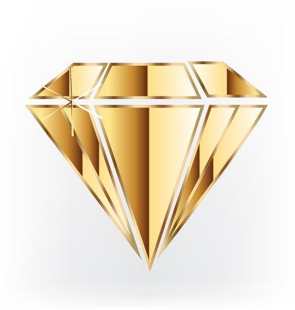green and gold: Gold diamond illustration