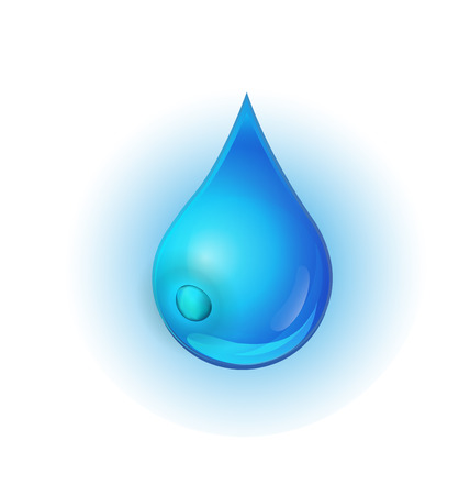 Water drop logo icon vector design Illustration