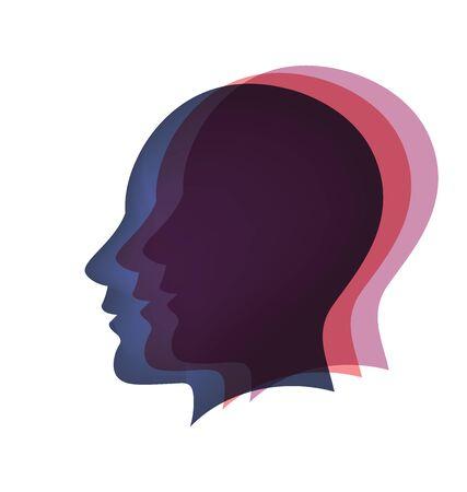 Santé mentale cerveau logo vecteur Logo