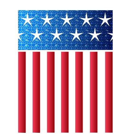 eps vector art: USA American Flag vector Illustration