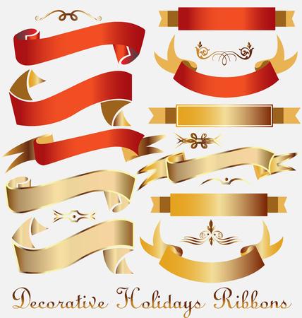 Ribbons set decoration