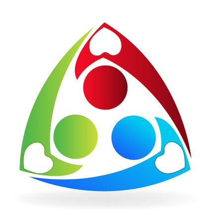 Teamwork charity people logo vector image Ilustração