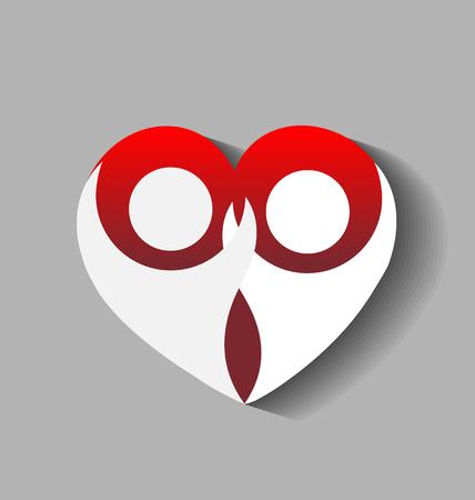 Love couple heart people image vector logo template