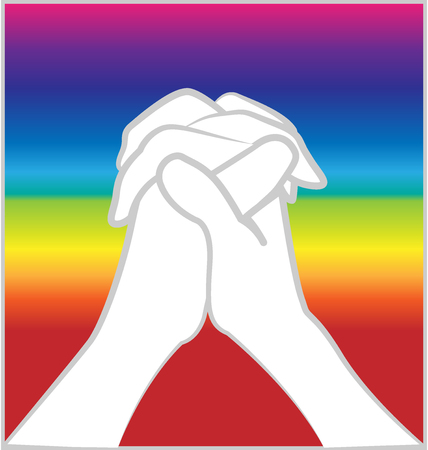 bisexuality: Hands praying vector image