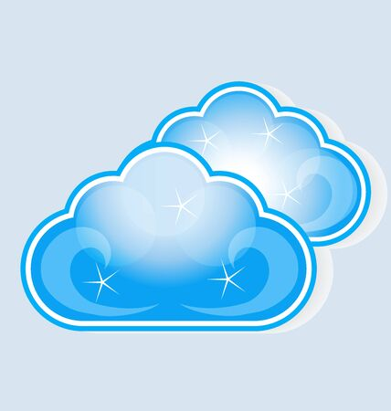 stock photograph: cloud computing vector