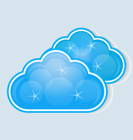 stock photograph: cloud data computing storage vector Illustration