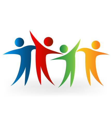 Glückliche Menschen Zeit Vektor-Bild teilen Standard-Bild - 59043265