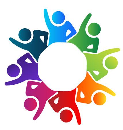 voluntary: Teamwork united voluntary people vector image Illustration