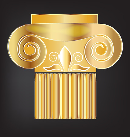 doric: Column building gold design