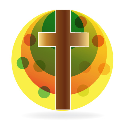 Cross with sun icon