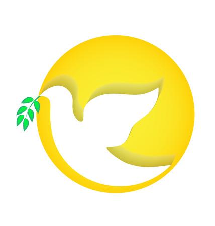 free vector art: Dove peace vector icon Illustration