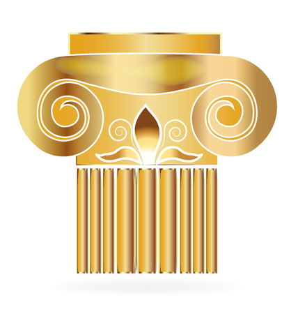 doric: Column building lis flower gold design