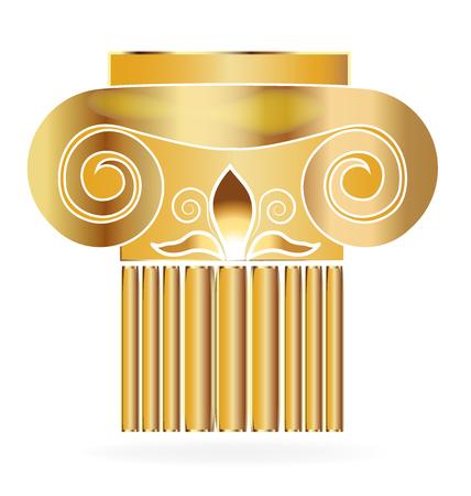 Spalte Gebäude lis Blume Gold Design