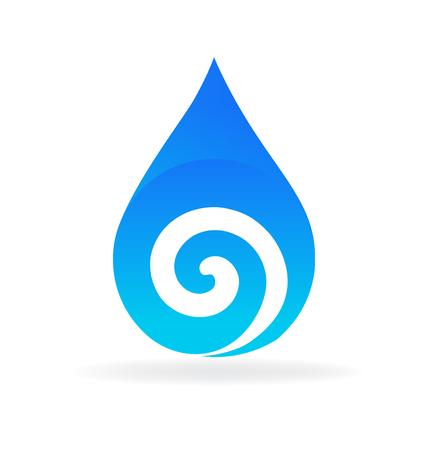 Water drop swirly vector Illustration