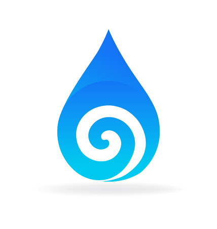 Water drop swirly vector Illustration