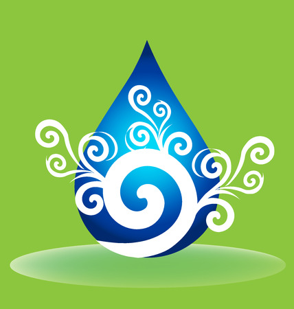Water drop floral vector