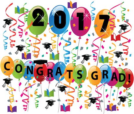 graduacion: Celebrando el día de graduación Vectores